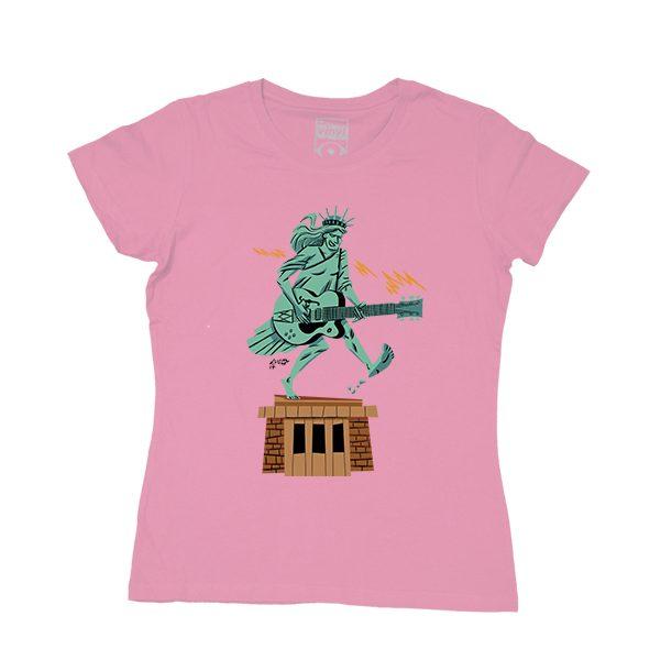 Luis Armand-estatua de la libertad-rosa